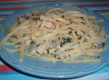 Linguini and white clam sauce.