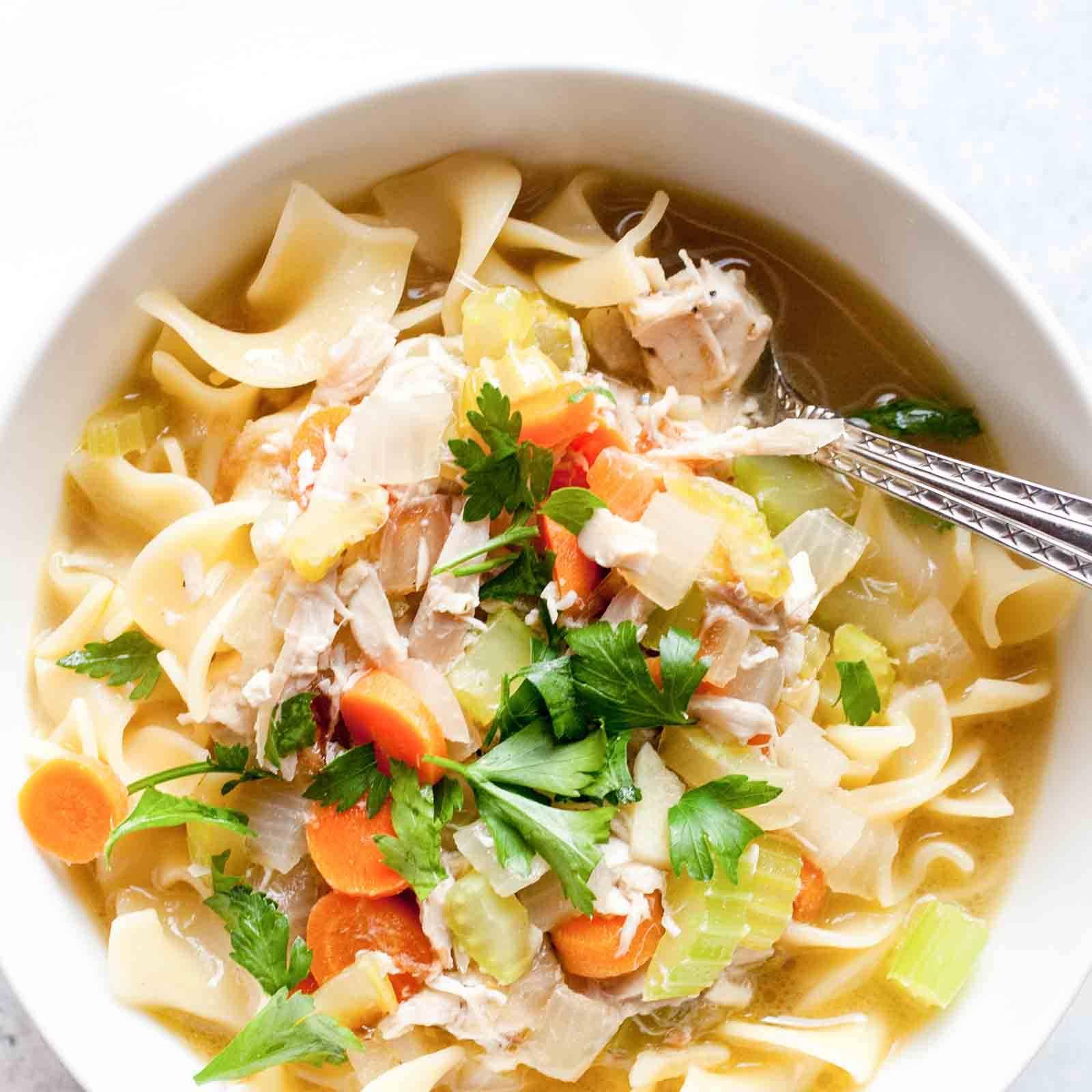 Rotisserie Chicken Noodle Soup
