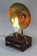Photo: steampunk dragon lamp