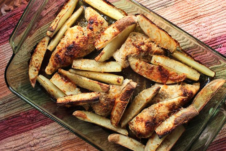 One Pan Chicken and Potato Bake Recipe