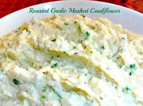 Roasted Garlic Mashed Cauliflower