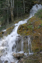 Photo: One of the many temporary waterfalls which formed during spring when the ice/snow melts around Black Lake