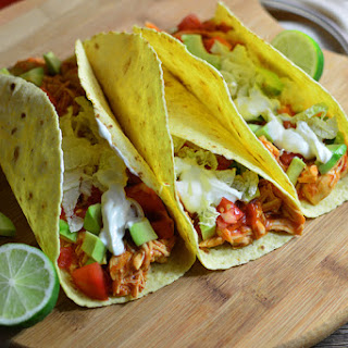 Slow Cooker Chicken Tacos.