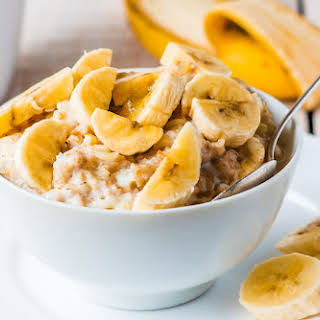 Banana Peanut Butter Oatmeal.