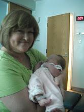 Photo: Great Auntie Chris meets little Audrey