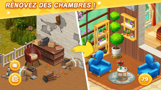 Dream Home Match - Renouveler la Mansion APK MOD – ressources Illimitées (Astuce) screenshots hack proof 1