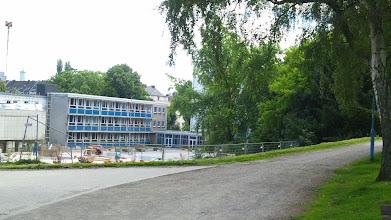 Photo: Schulgelände am Buschey-Park (vom Kultopia - alias Jugendheim am Buschey - aus betrachtet).