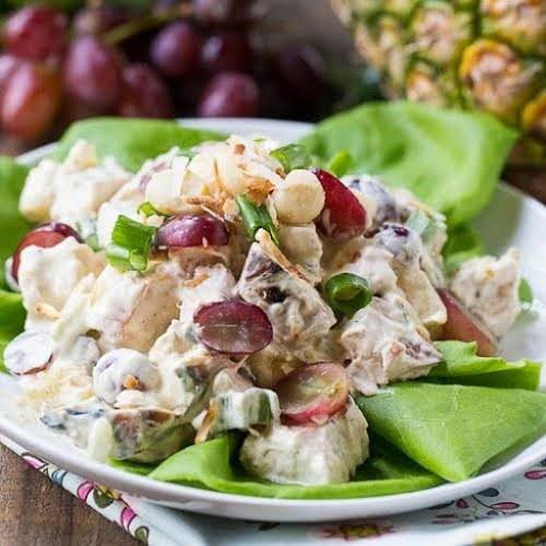 "Click Here for Recipe: Tropical Chicken Salad ""Tropical Chicken Salad is full..."