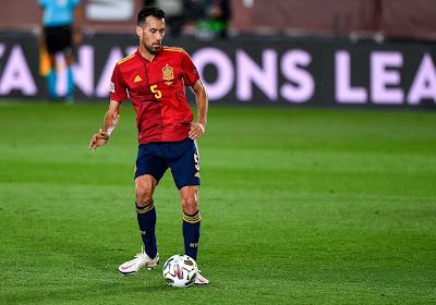 Sergio Busquets heeft een blessure opgelopen bij de Spaanse nationale ploeg
