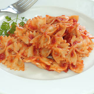 One Pot Tuna Pasta Recipe With A Creamy Tomato Sauce.
