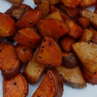 Roasted Balsamic Rutabaga, Sweet Potatoes and Carrots Recipe