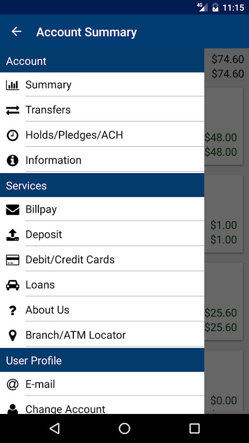 Granite CU Mobile Banking- screenshot