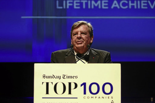 Rupert receives a lifetime achievement award at the 2016 Sunday Times Top 100 Companies Awards. Picture: Sunday Times/Moeletsi Mabe