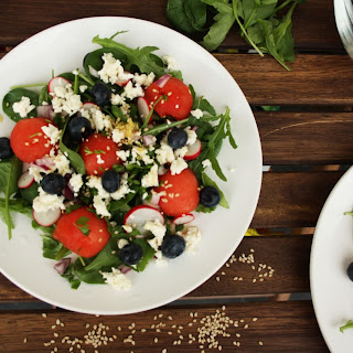 Thai Watermelon Radish Salad with Blueberries