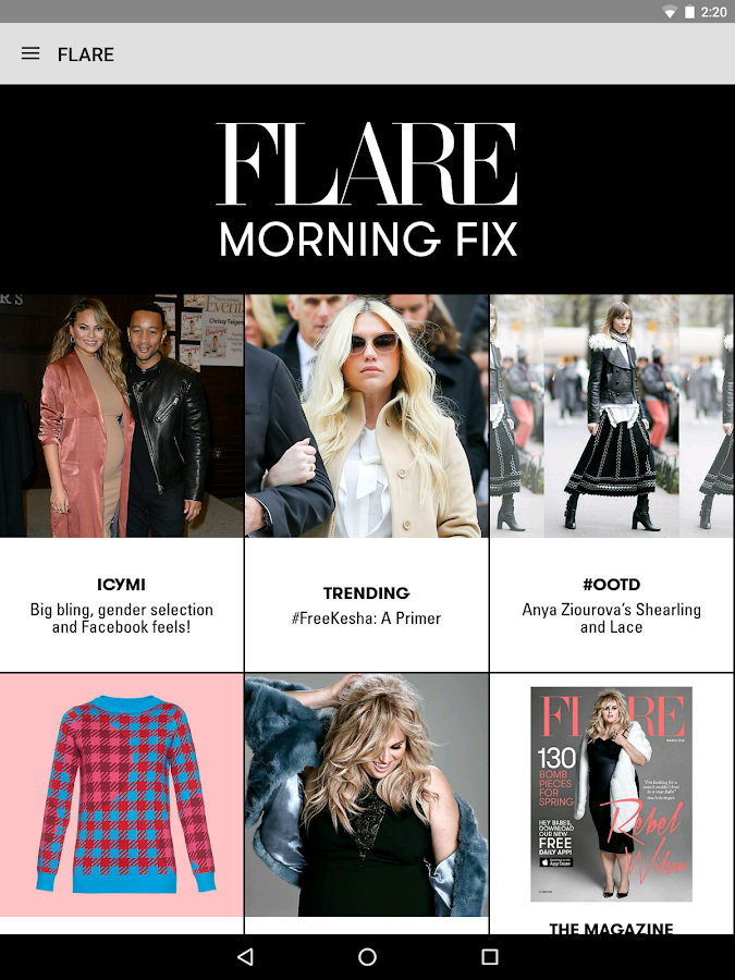 FLARE Magazine- screenshot