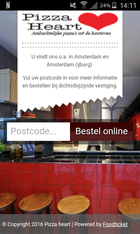 Pizza Heart Amsterdam- screenshot