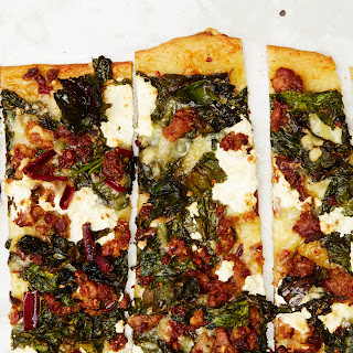 Hot Sausage and Crispy Chard Pizza