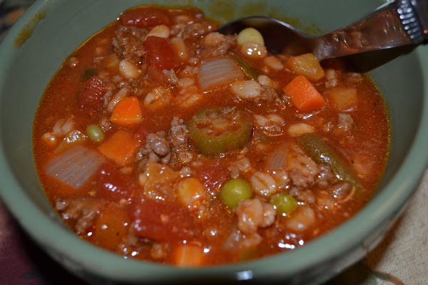 Hamburger Barley Vegetable Soup Recipe