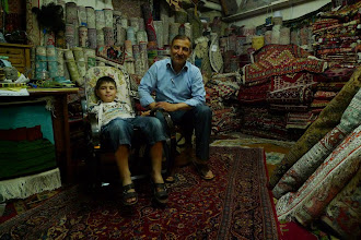 Photo: Khalis Younis with his son, Erbil 2014, South Kurdistan (Iraq)
