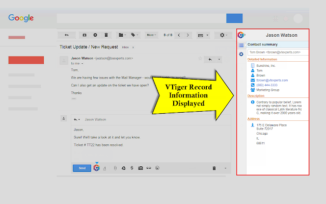 Gmail & Office Plugin for VTiger (FREE)