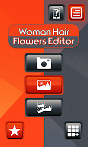 Woman Hair Flowers Editor screenshot 0