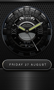 Black Titan HD Clock Widget Screenshot