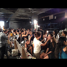 Photo: Keeping busy backstage at New York Fashion Week Spring 2013 - Which shows are you excited to see?