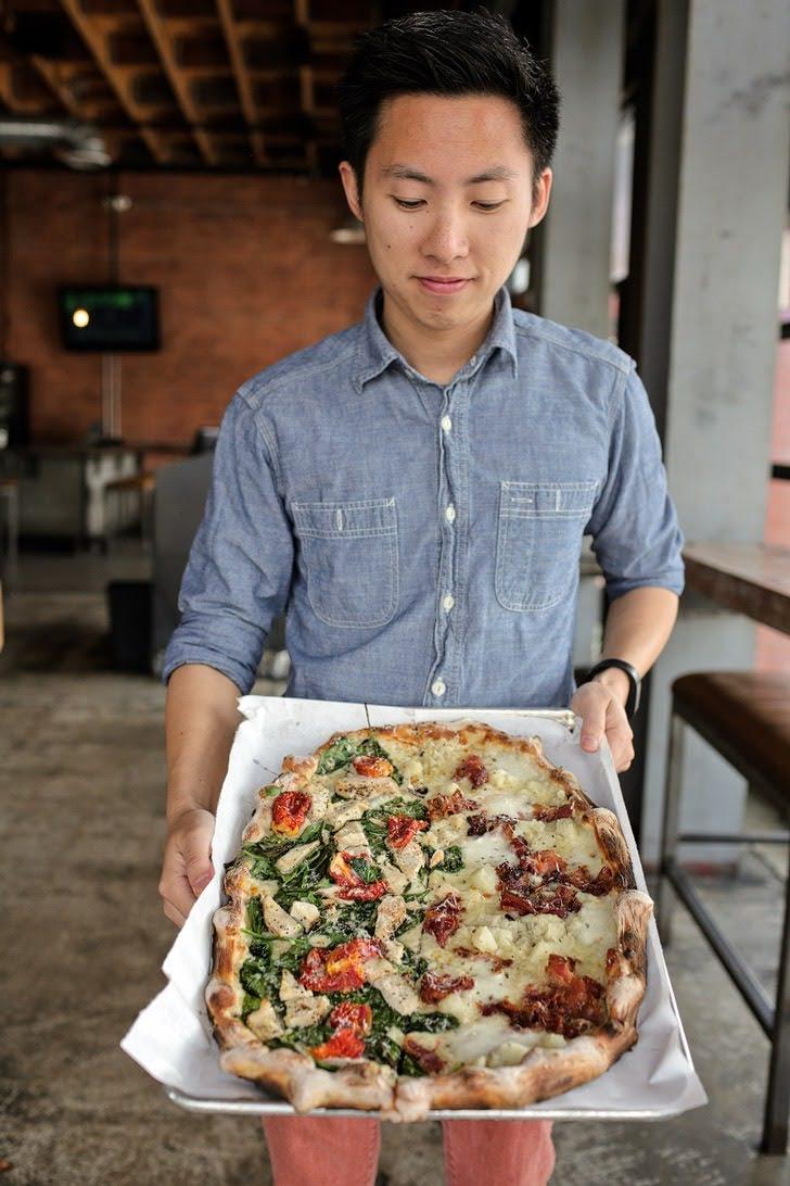 Mashed Potato Pizza at Urbn Pizza North Park.