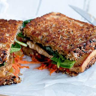 Grilled Marinated Tofu Sandwich [Vegan].