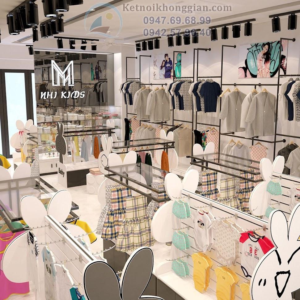 Thiết kế shop quần áo trẻ em sáng tạo, ngộ nghĩnh