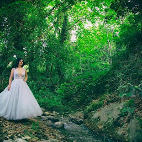 Nature bride by SOTIRIOS SARAFIS - Wedding Bride ( photooftheday, wedding dress, wedding photography, wedding photographer, photoshop art, pose, weddings, photo, photoshop, portrait, photos, people, photograph, photographer, wedding, poses, photography )
