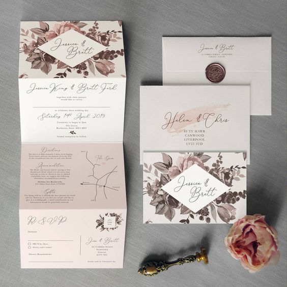 Belle Concertina Wedding Invitation