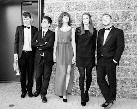 Photo: Members of the University Big Band and singer Steph Richardson