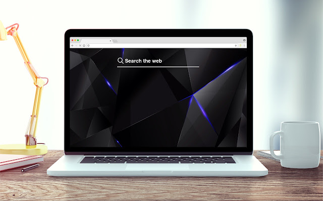 Black and Blue Shards HD Wallpapers Tab Theme