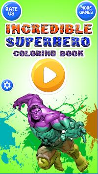 Download Toplu çocuklar Için Inanılmaz Süper Kahraman Boyama Kitabı
