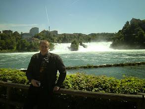 Photo: Klaus und Björn Tour zur Adria. Hier am Rheinfall