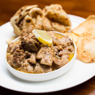 Creamy Lemon Pepper Chicken with Paratha and Potato Wafers