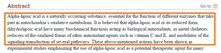 ALA ajuda a aumentar a produção de energia mitocondrial