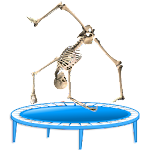 Skeleton Ragdoll, Trampoline Icon