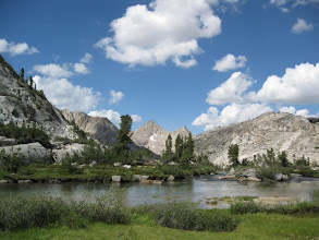 Photo: Palisade Lake.  I met the LaConte ranger up here and pumped water.
