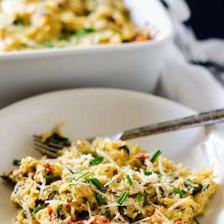 """Skinny Chicken, Spinach & Sun Dried Tomato Casserole (with Quinoa """"Cream"""")"""