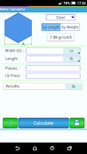 Metal Weight Calculator 6.00 Android Mod + APK + Data 3