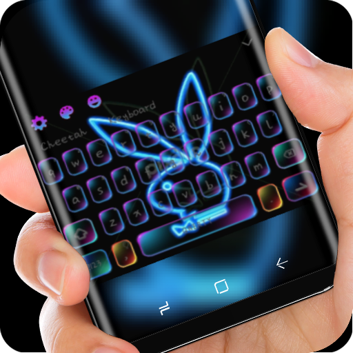 Neon Rabbit keyboard app (apk) free download for Android/PC/Windows