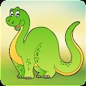 恐龙刮掉和色彩为孩子 icon