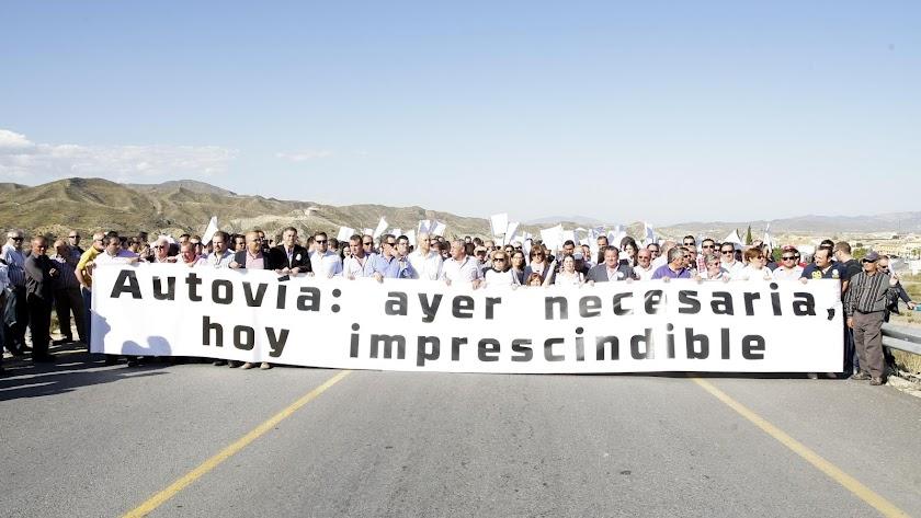Manifestación celebrada en el año 2013.