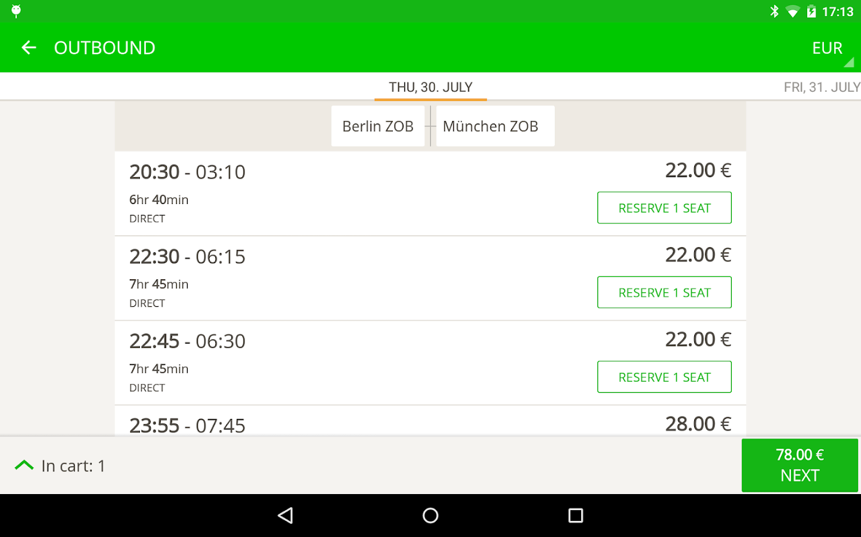 FlixBus - bus travel in Europe- screenshot