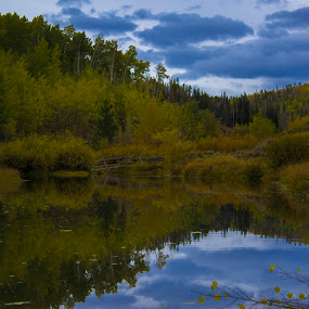 Autumn morning by Jason Murray - Landscapes Mountains & Hills ( nature, autumn, beautiful, wyoming, forest, landscape, stunning, pond,  )