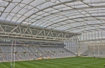 Photo: HDR of Otago Stadium, the only fixed roof stadium in the southern hemisphere. Dunedin, NZ