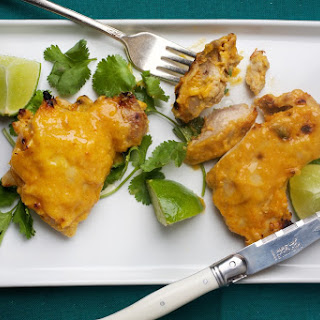 Mango-Lime Marinated Chicken Thighs.