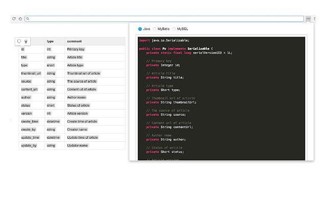 Mo Code Generator